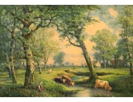 Настенная картина На берегу ручья