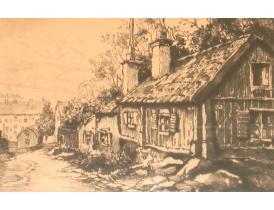 Настенная картина Старая изба