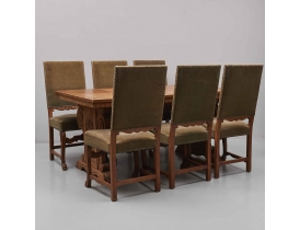 Обеденный стол с шестью стульями