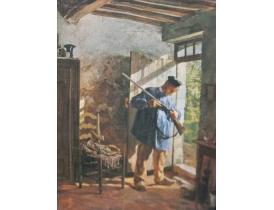 Печать на холсте Охотник Georg Šubic 1855-1890