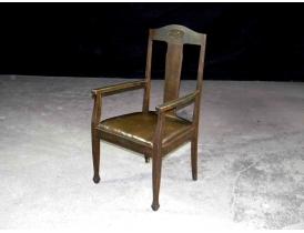 Кресло с кожаным сиденьем