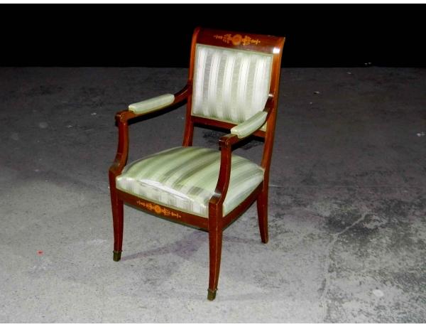 Кресло полосатое с инкрустацией, AM0706