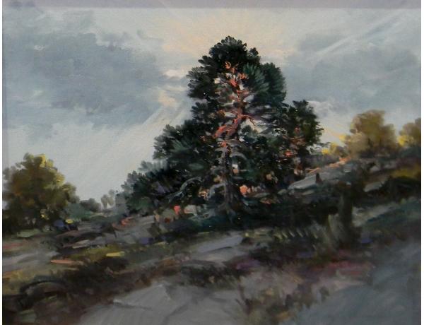 Tundmatu kunstniku õlimaal Puu tiigi kaldal, AM1389